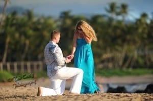 Surprise Engagement on a Maui Beach