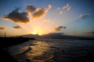 Ripping North Shore Sunset from Hookipa Maui