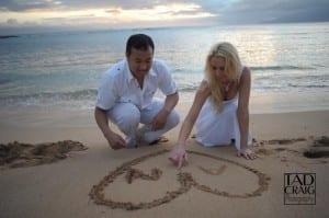 Drawing Hearts in the sand @ Kapalua Beach Maui