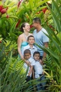 Cute Family in Maui Foilage