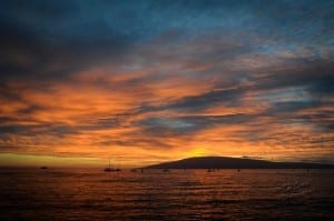 The Sky over Lanai Bursting with color!