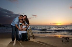 Cute Family Great maui Sunset