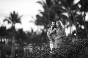 Honeymooners Celebrating on Wailea Beach