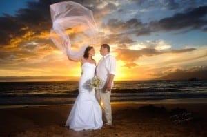 Playful Maui Sunset Love