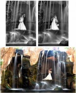 B&G under a waterfall @ Westin Resort& Spa
