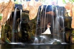 Romance under a maui Waterfall