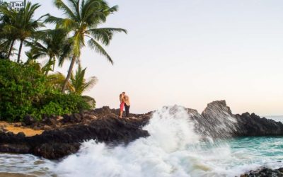 Romance on the Lava with Crashing Waves