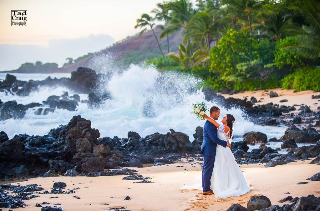 Chandeliers, Flowers and Romance for a Wedding on Maui