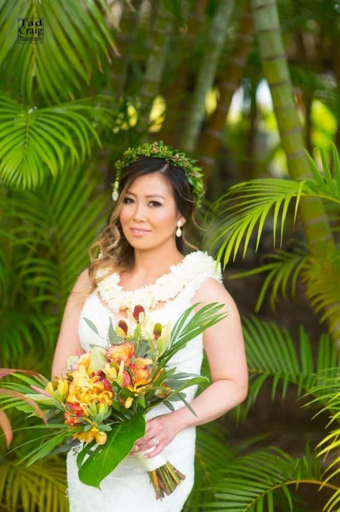 flowers, crowns, weddings, maui, 7 Reasons to Wear Flower Crowns for Your Wedding, Tad Craig Photography, Tad Craig Photography