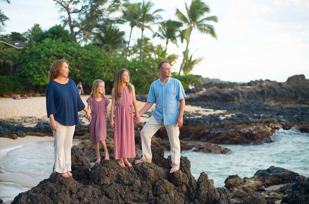 Gorgeous Maui Family Portrait Session at Makena Cove